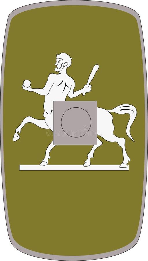 Wektorowa osłona Legio Ja Parthica na białym tle ilustracja wektor