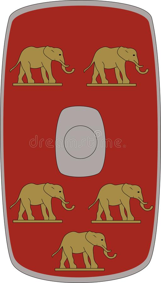 Wektorowa osłona Legio V Alaudae na białym tle ilustracja wektor