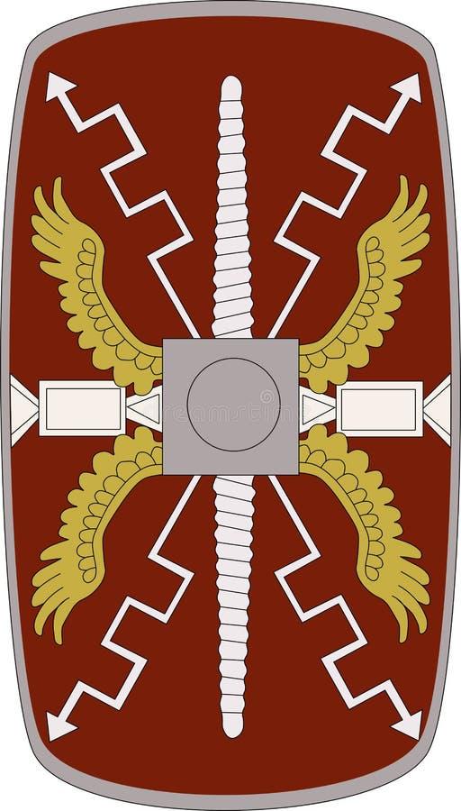 Wektorowa osłona Legio XIIII Gemina na białym tle ilustracja wektor