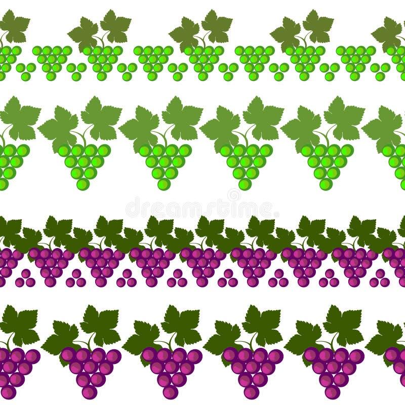 Wektorowa owocowa bezszwowa linia inkasowy projekta elementów struktur mamy set ilustracja wektor