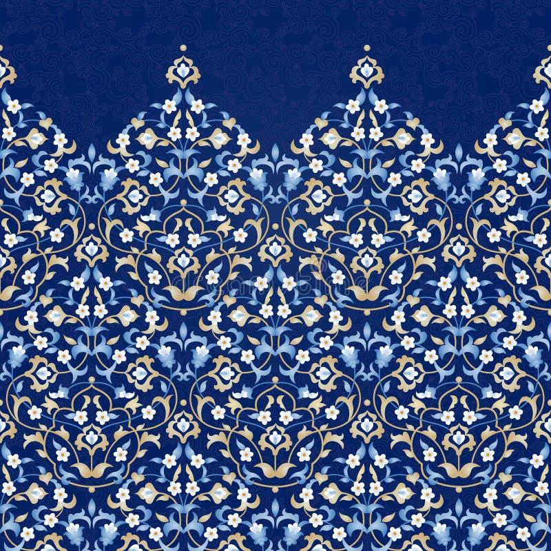 Wektorowa ozdobna bezszwowa granica w Wschodnim stylu royalty ilustracja