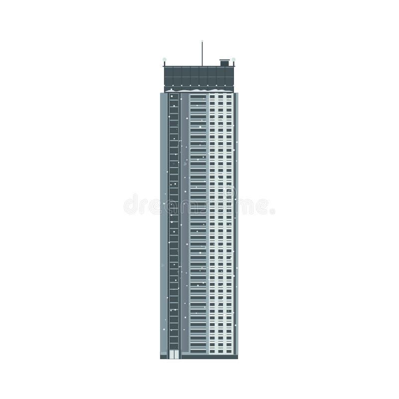 Wektorowa płaska biznesu lub budynku mieszkalnego ikona ilustracji
