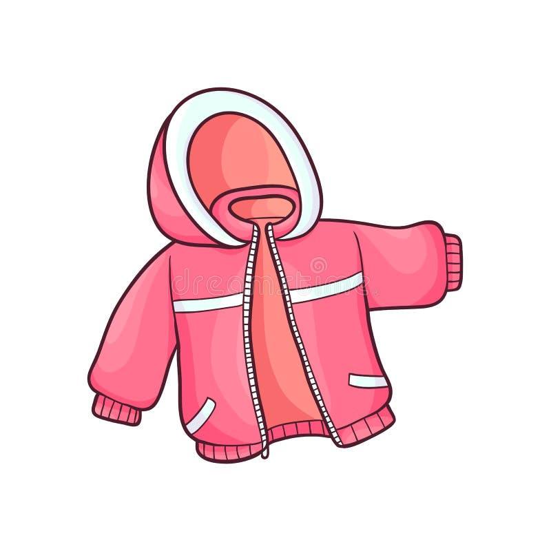 Wektorowa płaska dziecko dzieciaka kurtka ilustracji