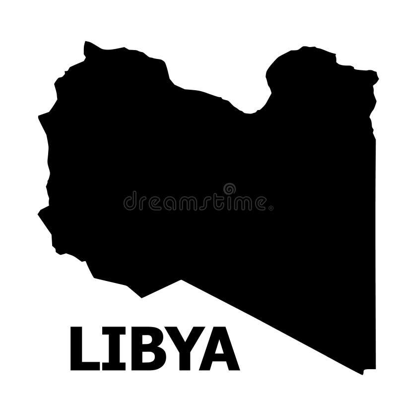 Wektorowa Płaska mapa Libia z imieniem royalty ilustracja