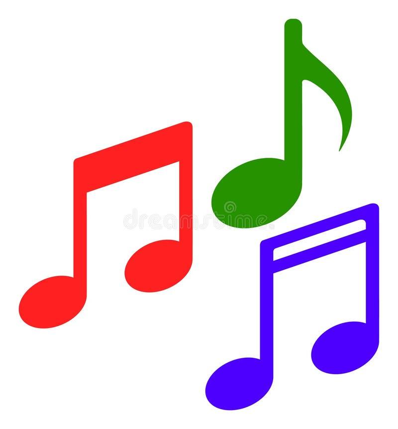 Wektorowa Płaska melodia Zauważa ikonę ilustracja wektor