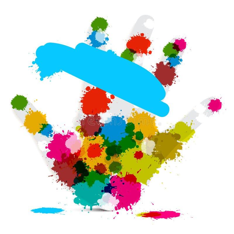 Download Wektorowa Palmowa Ręka I Kolorowi Pluśnięcia Ilustracji - Ilustracja złożonej z dekoracyjny, ręka: 57655732