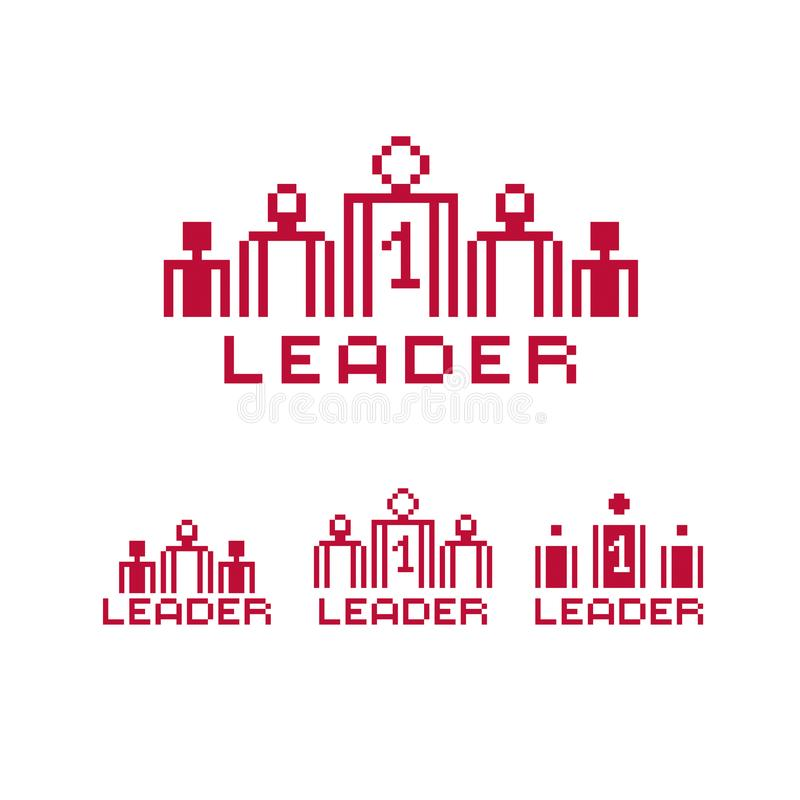 Wektorowa piksel ikona odizolowywająca, 8bit grafiki element pojęcia lidera serie target327_1_ pastylki royalty ilustracja