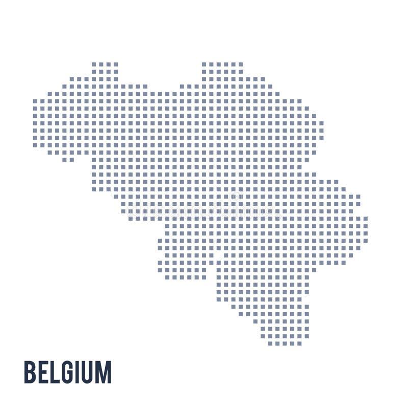 Wektorowa piksel mapa Belgia odizolowywał na białym tle ilustracji