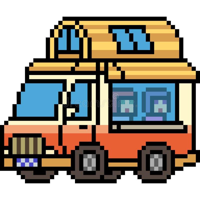 Wektorowa piksel sztuki domu ciężarówka ilustracji