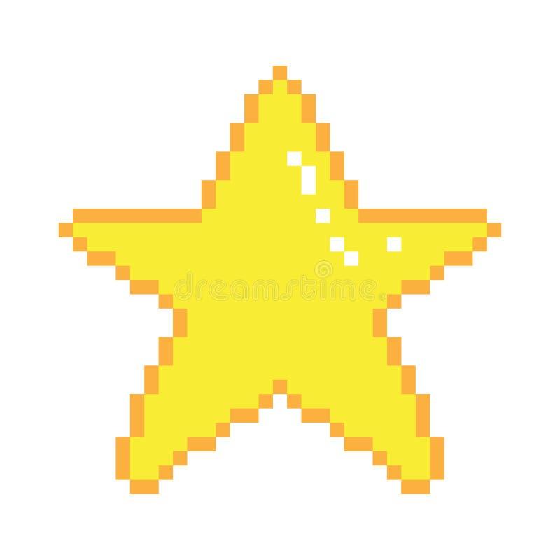 Wektorowa piksel sztuki gwiazda ilustracji