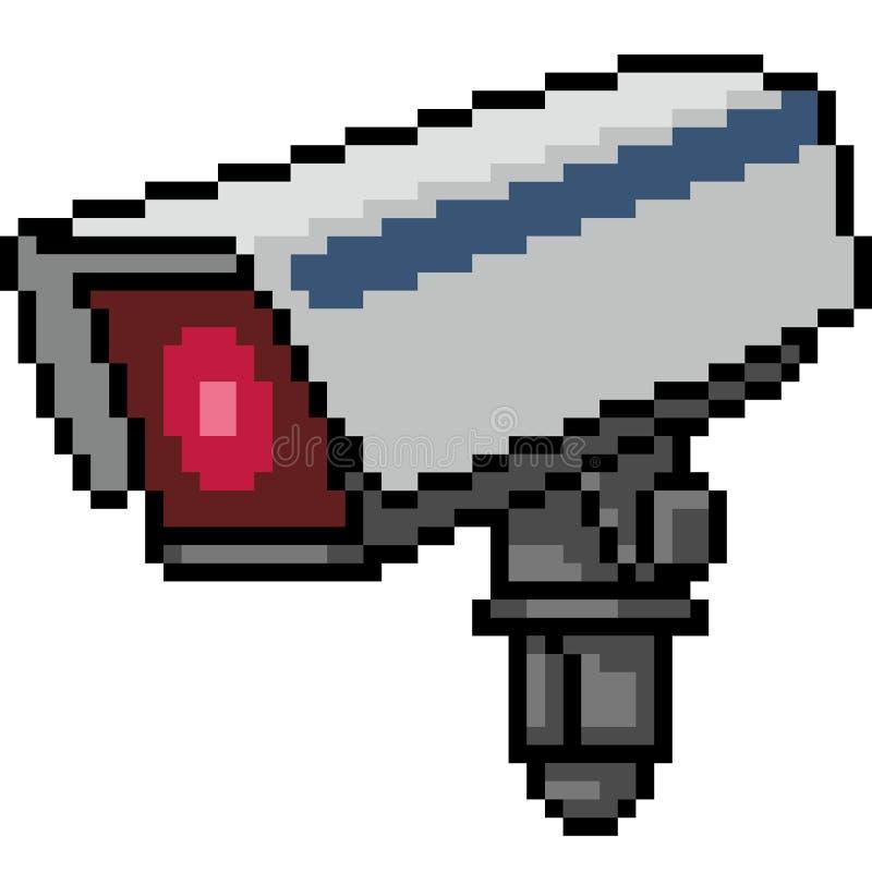 Wektorowa piksel sztuki kamera royalty ilustracja