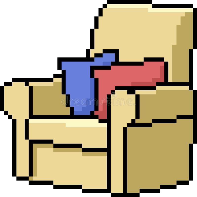 Wektorowa piksel sztuki kanapa royalty ilustracja