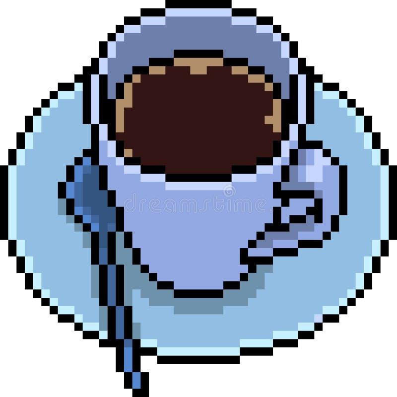 Wektorowa piksel sztuki kawa royalty ilustracja