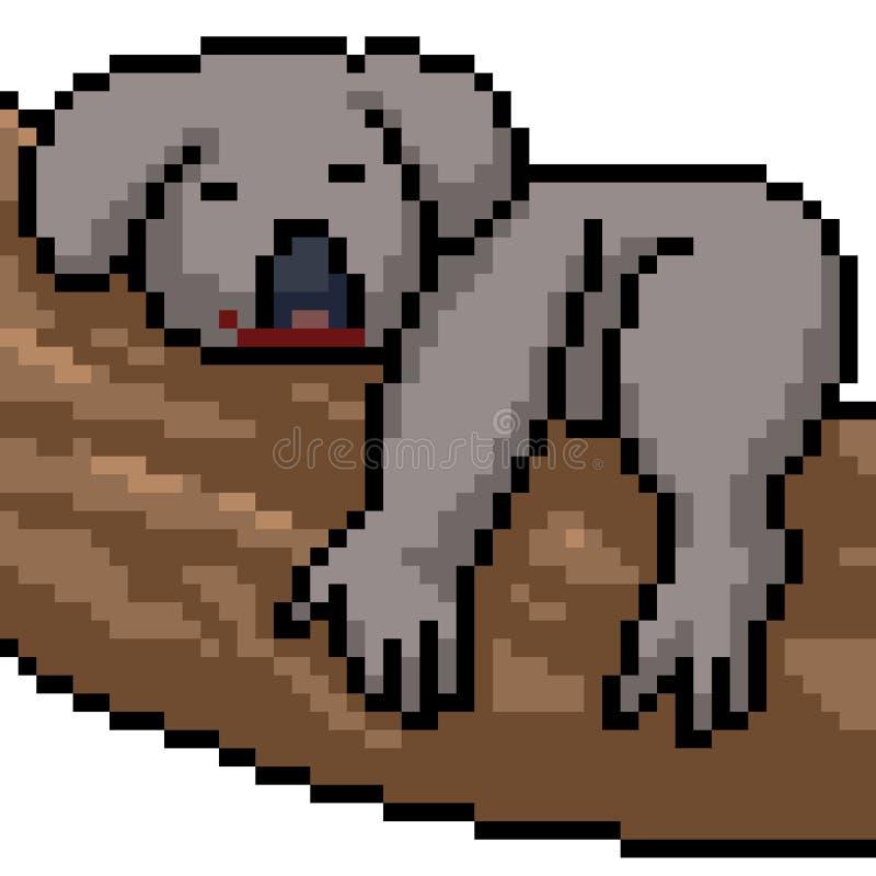 Wektorowa piksel sztuki koala royalty ilustracja