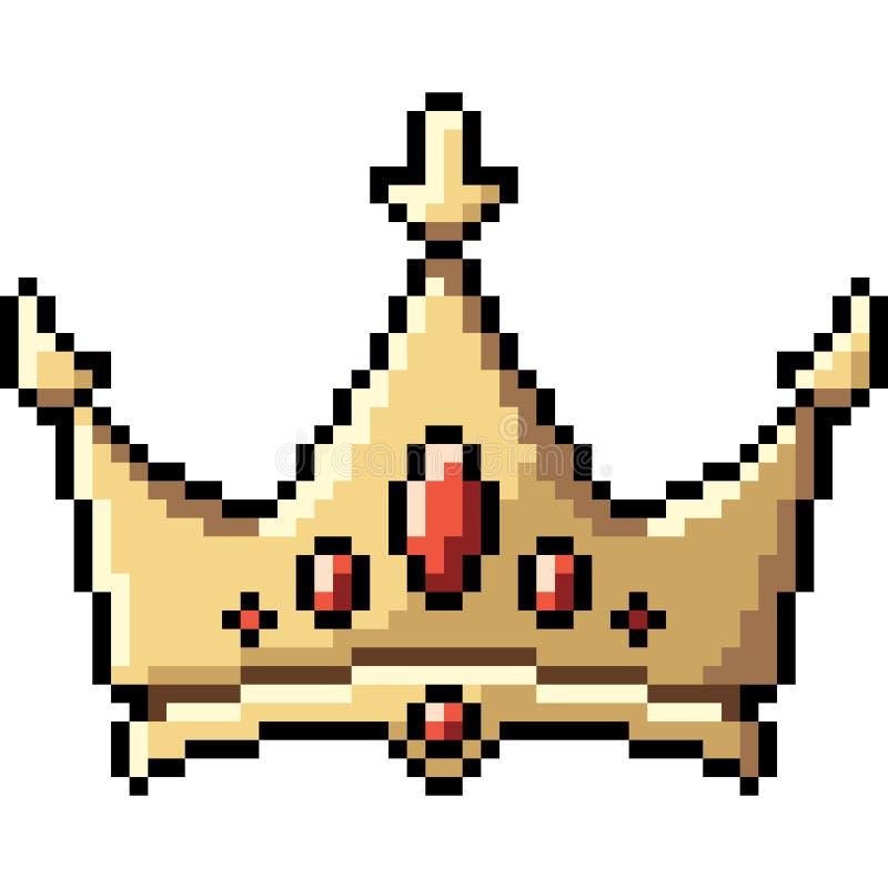 Wektorowa piksel sztuki korona royalty ilustracja