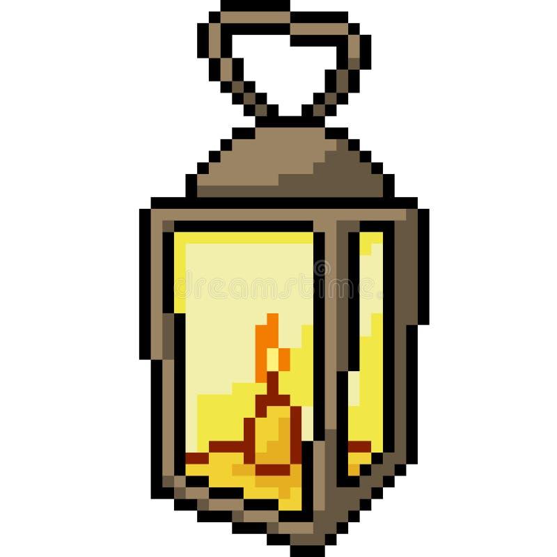 Wektorowa piksel sztuki lampa ilustracji