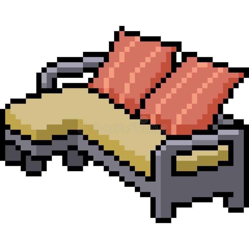 Wektorowa piksel sztuki leżanka royalty ilustracja