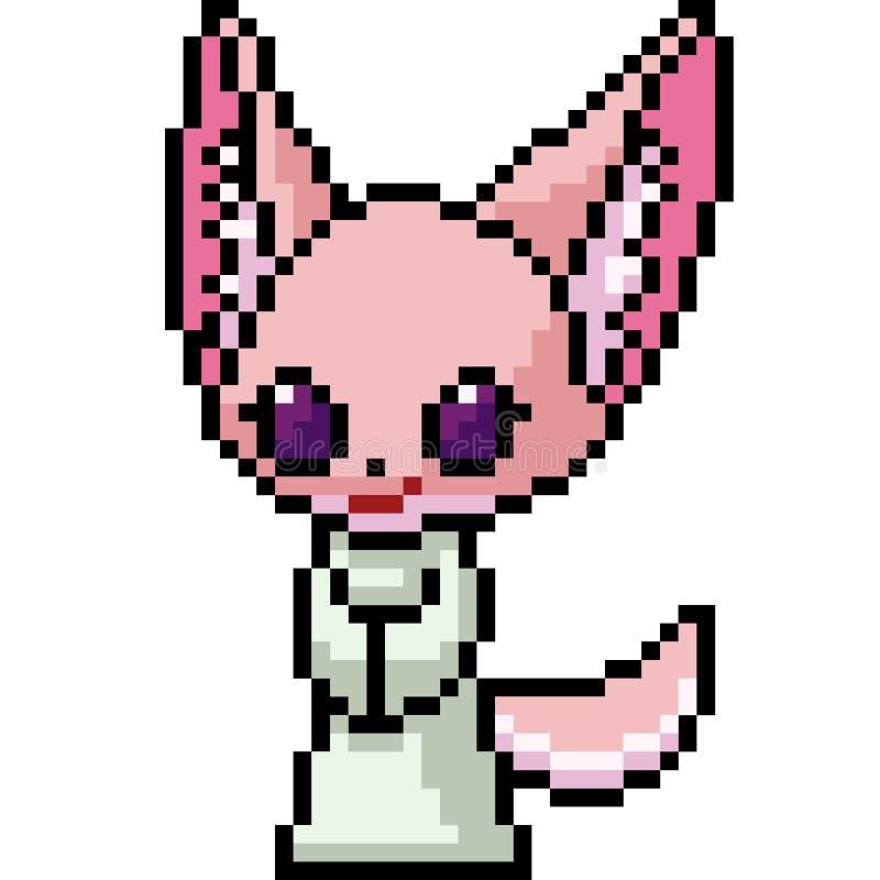 Wektorowa piksel sztuki lisa dziewczyna ilustracji