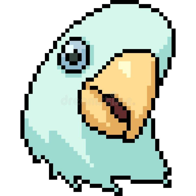 Wektorowa piksel sztuki papugi głowa ilustracji