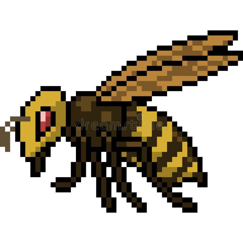 Wektorowa piksel sztuki pszczoła ilustracja wektor