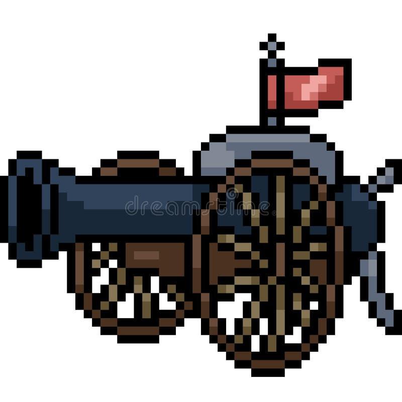 Wektorowa piksel sztuki wieżyczka royalty ilustracja