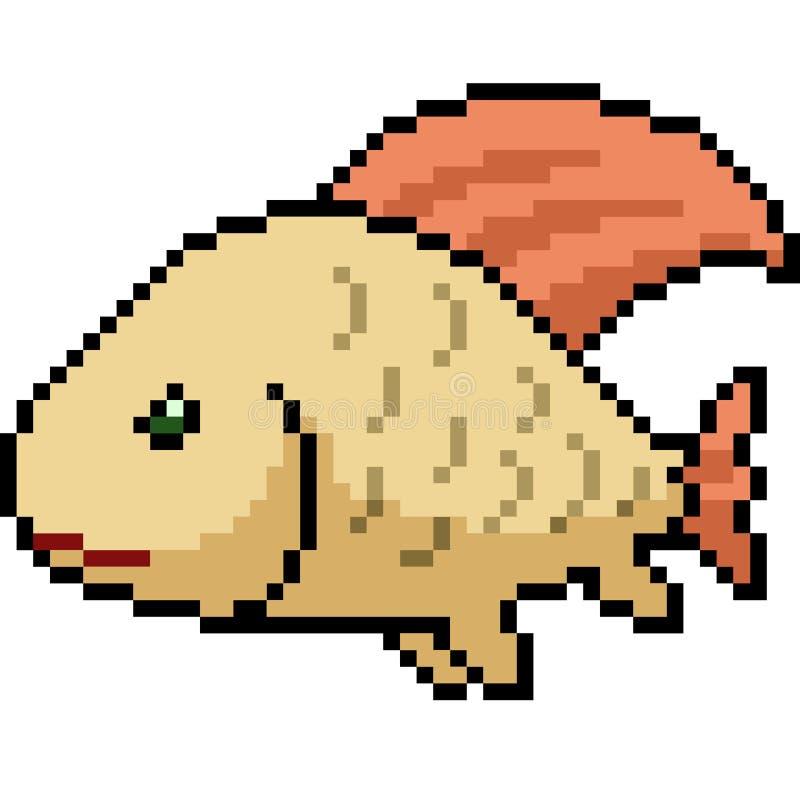 Wektorowa piksel sztuki zwierzęcia domowego ryba royalty ilustracja