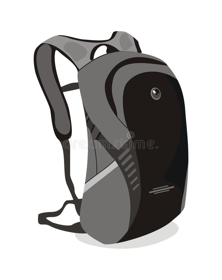 Wektorowa plecak torba dla szkoły ilustracji