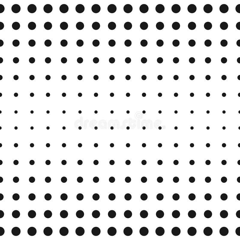 Wektorowa połówka - brzmienie okregów wzór kropek halftone tekstura Polki kropka ilustracja wektor