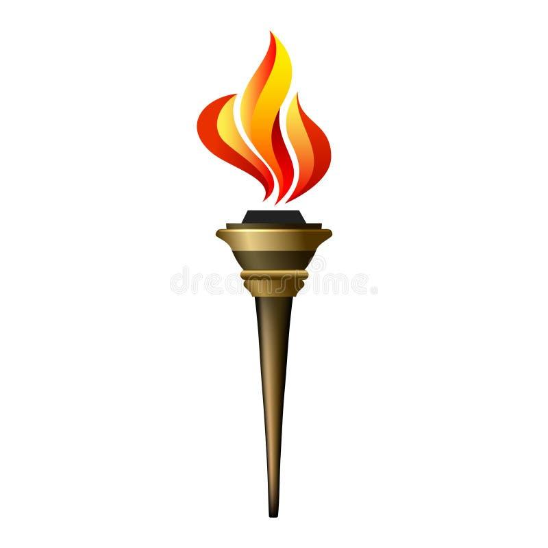 Wektorowa pochodni ikona ilustracja wektor