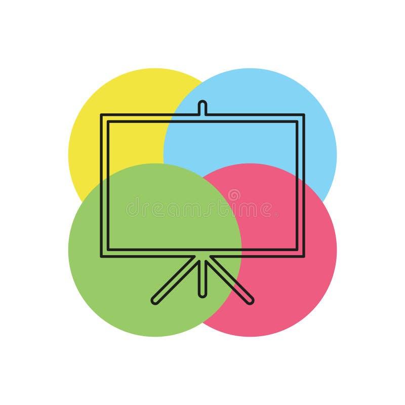 Wektorowa prezentacji deski ikona, edukacji ikona ilustracja wektor