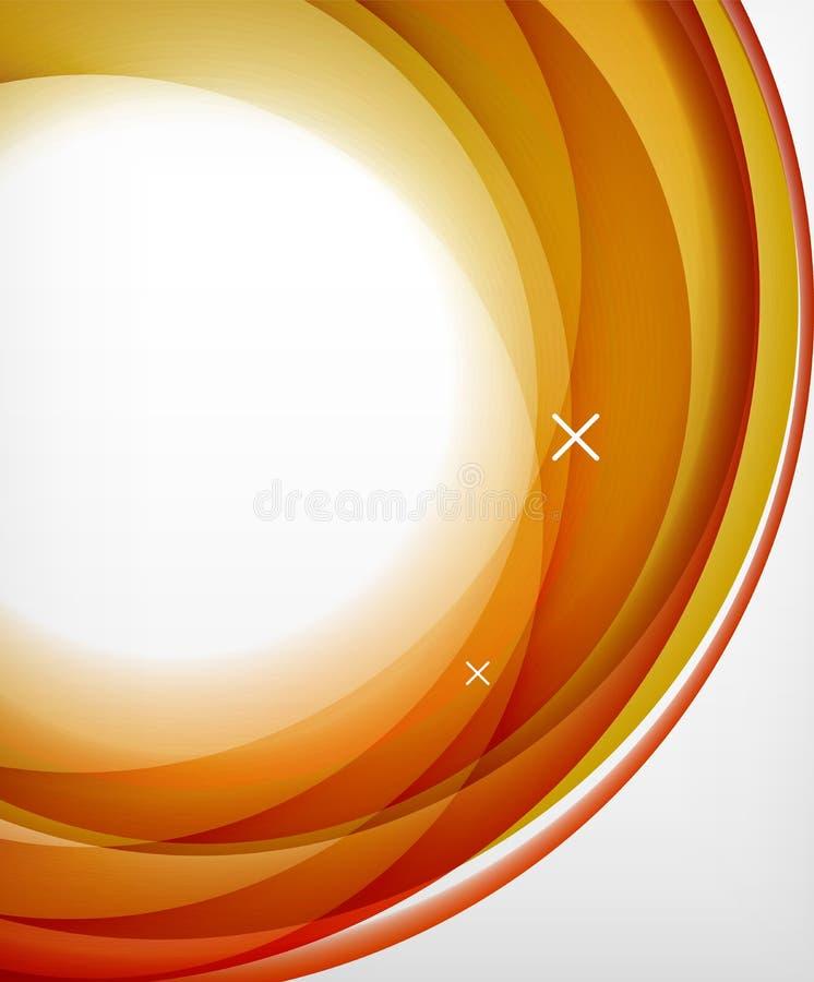 Wektorowa przejrzysta kolor fala wykłada abstrakcjonistycznego tło, glansowane szkło fala, wektorowi abstrakcjonistyczni tła, bły ilustracja wektor