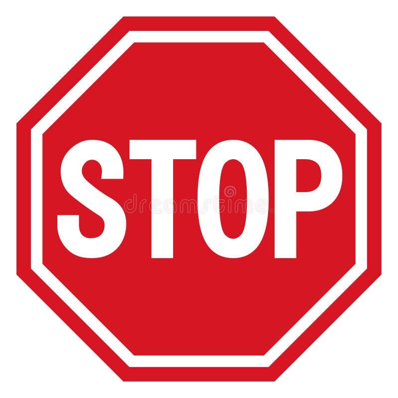 Wektorowa przerwy ikona, zabroniony przejście, przerwy szyldowa ikona, żadny hasłowy znak na białym tle, czerwony przerwa logo, p ilustracji