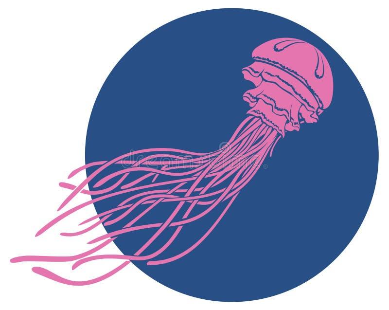 Wektorowa purpurowa meduza ilustracji
