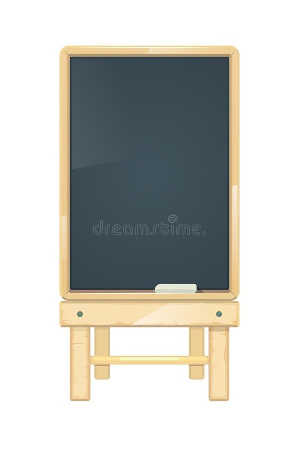 Wektorowa pusta menu deska, blackboard w drewnianej ramie royalty ilustracja