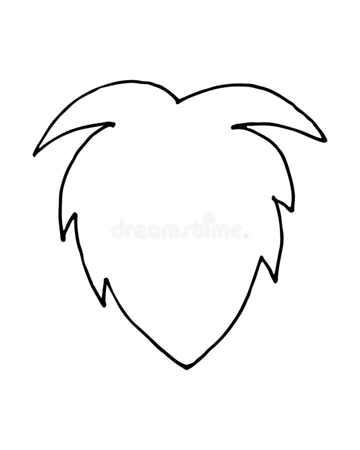 Wektorowa ręka rysująca doodle Santa Claus Bożenarodzeniowa broda ilustracja wektor
