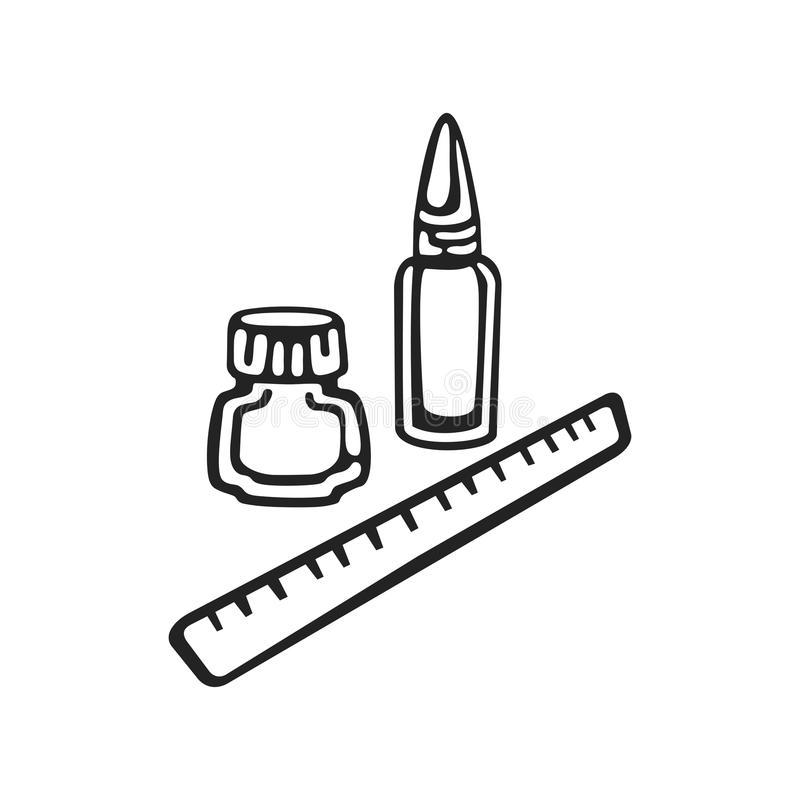Wektorowa ręka rysująca ikona klerykalny ilustracji