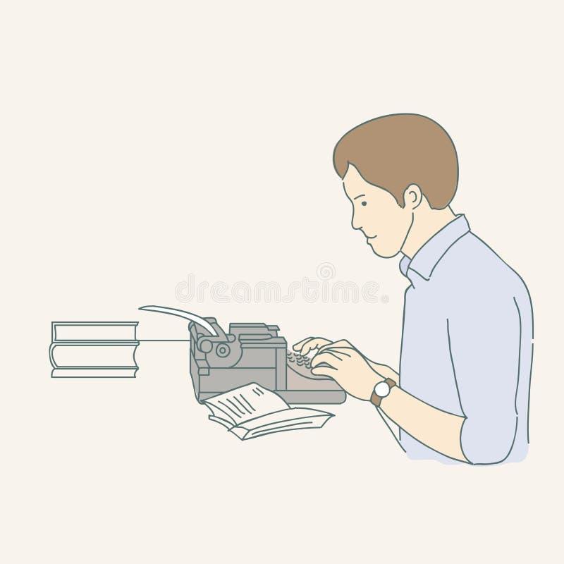 Wektorowa ręka rysująca ilustracja autor royalty ilustracja