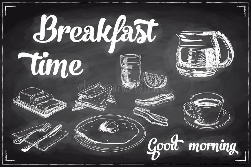 Download Wektorowa Ręka Rysujący śniadania I Gałąź Tło Ilustracja Wektor - Ilustracja złożonej z arte, wyznaczający: 57673801