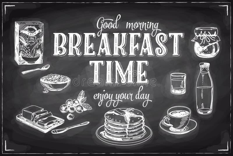 Download Wektorowa Ręka Rysujący śniadania I Gałąź Tło Ilustracja Wektor - Ilustracja złożonej z menu, filiżanka: 57673831