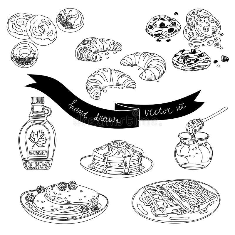 Download Wektorowa Ręka Rysujący Set Z Tortami I Cukierkami Ilustracja Wektor - Ilustracja złożonej z śliczny, tło: 57651148