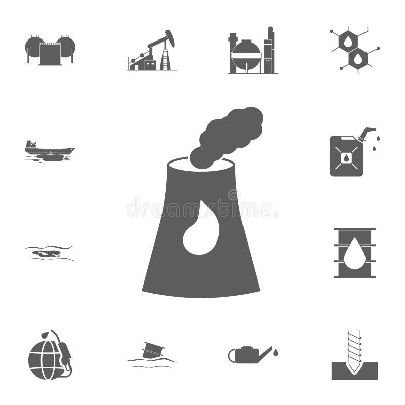 Wektorowa rafinerii ikony ikona Szczegółowy set Nafciane ikony Premii ilości graficznego projekta znak Jeden inkasowe ikony dla s ilustracja wektor