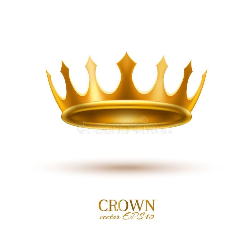 Wektorowa realistyczna 3d złota korona ilustracja wektor