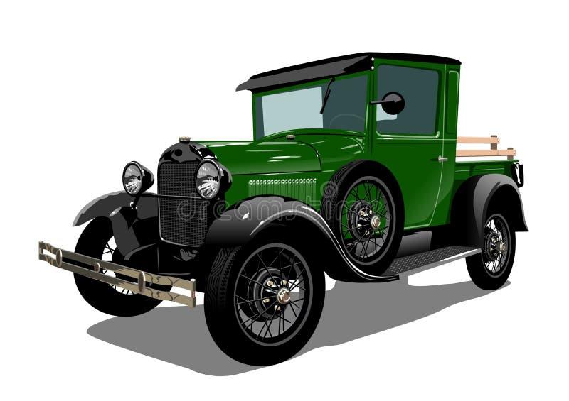 Wektorowa retro ciężarówka ilustracja wektor