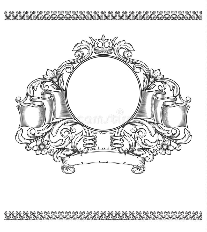 Wektorowa rocznik granica ilustracja wektor
