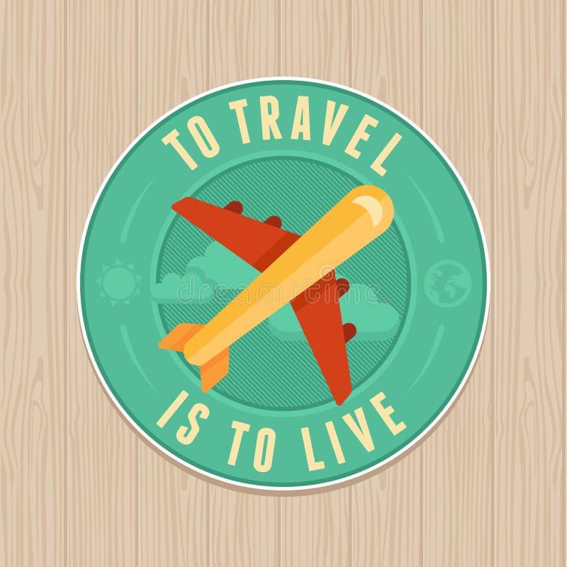 Wektorowa rocznik odznaka - płaska ikona samochodowej miasta pojęcia Dublin mapy mała podróż ilustracji