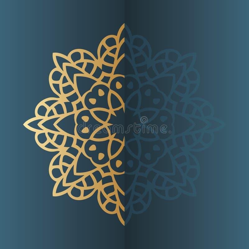 Wektorowa rocznika mandala znaka rama elementu dekoracyjny rocznik Orientała wzór ilustracja wektor