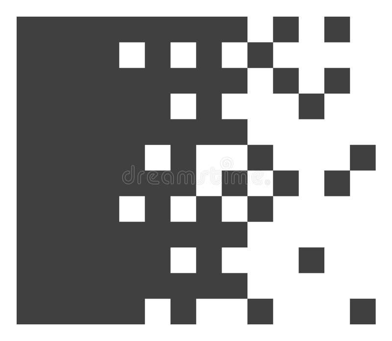 Wektorowa Rozpuszczająca piksel ikona ilustracji