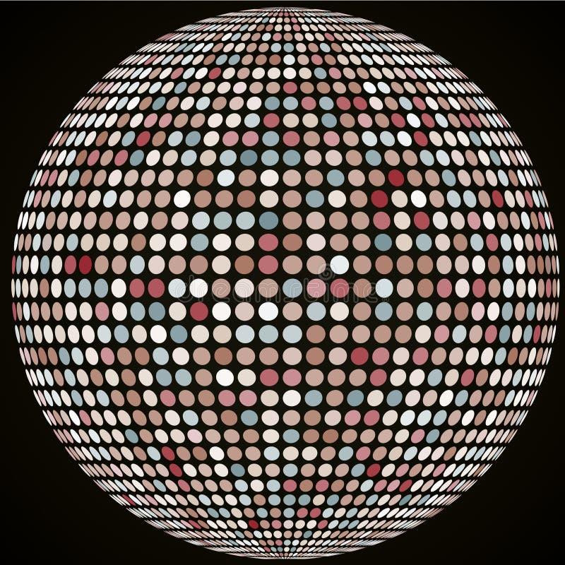 Download Wektorowa Sfera Z Płytkami Rocznika Kolor Ilustracja Wektor - Ilustracja złożonej z jaskrawy, geomorfologiczny: 57674726