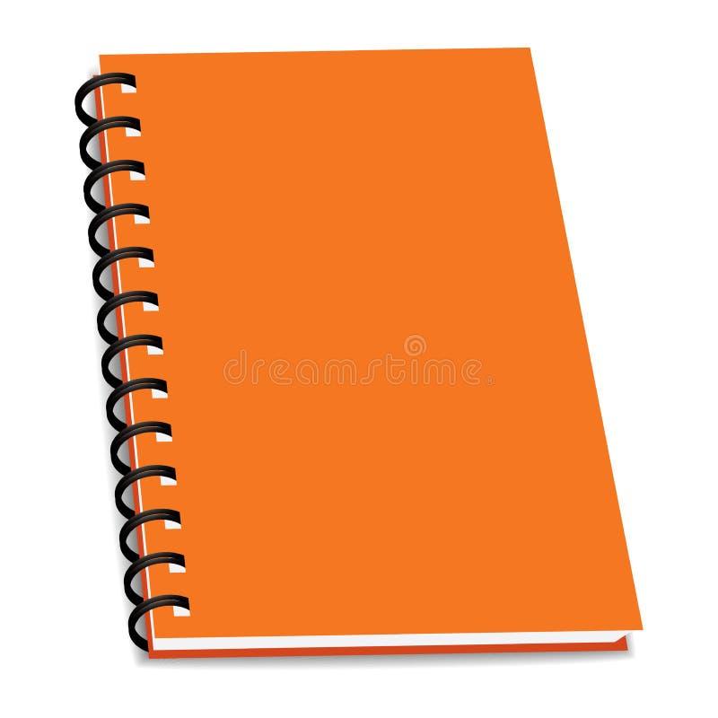 Wektorowa sterta ringowego segregatoru książka lub notatnik odizolowywający ilustracja wektor