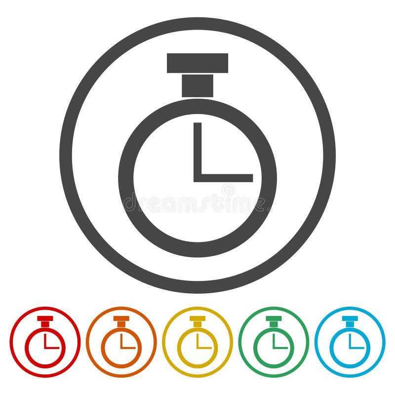 Wektorowa stopwatch ikona ilustracja wektor